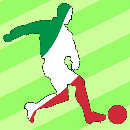 football colours of Italy Vector