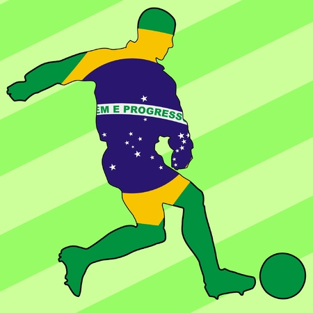 football colours of Brazil Vector