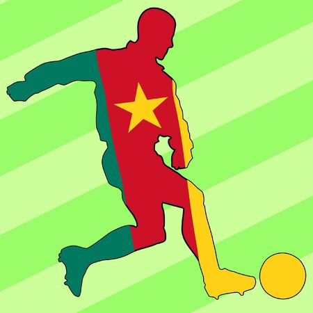 cameroon: football colours of Cameroon