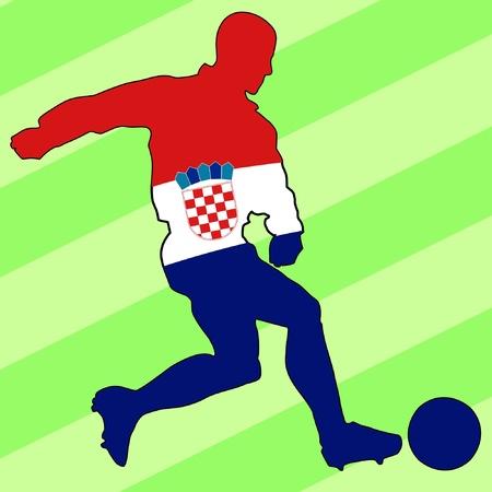 football colours of Croatia Stock Vector - 11749163