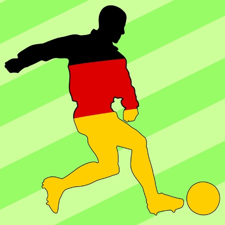 football colours of Germany Vector