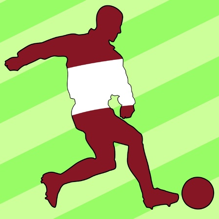 football colours of Latvia Vector