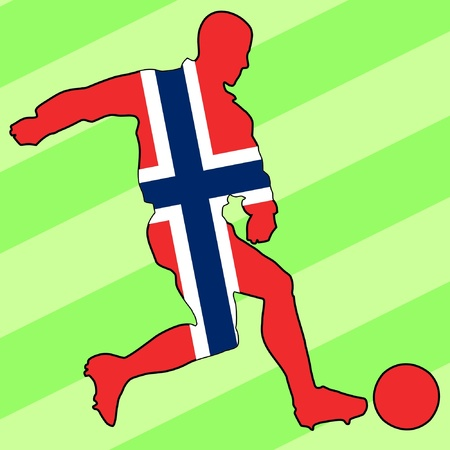 football colours of Norway Vector