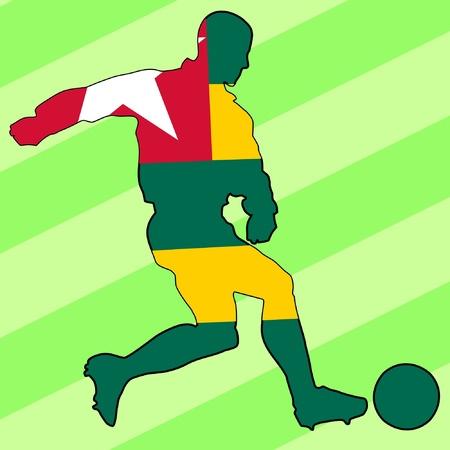 football colours of Togo Vector