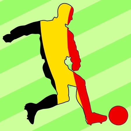 football colours of Belgium Vector
