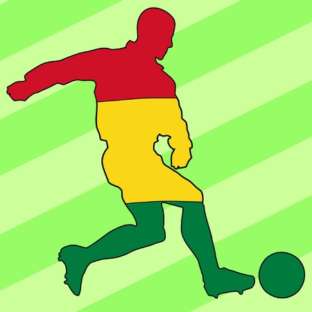 football colours of Bolivia Vector