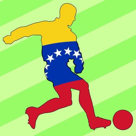football colours of Venezuela Stock Vector - 11749161