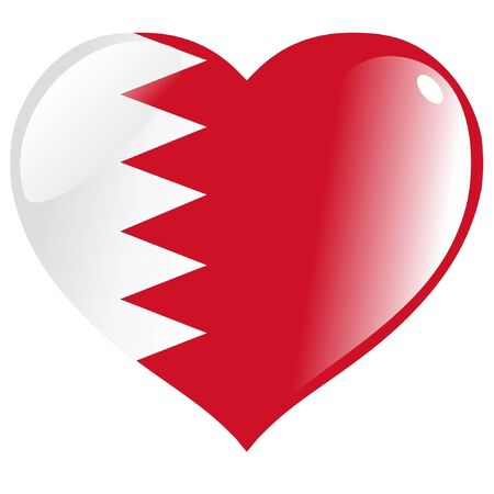 Bahrain in heart Vector