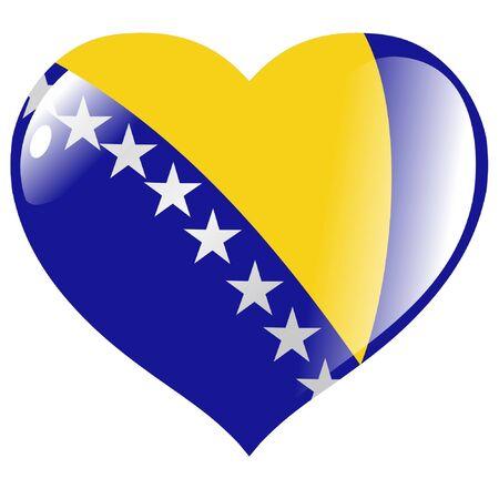 bosnia and herzegovina: Bosnia and Herzegovina in heart Illustration