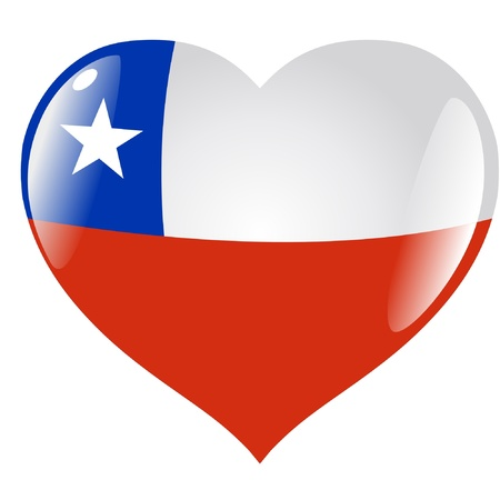 bandera de chile: Chile en el corazón