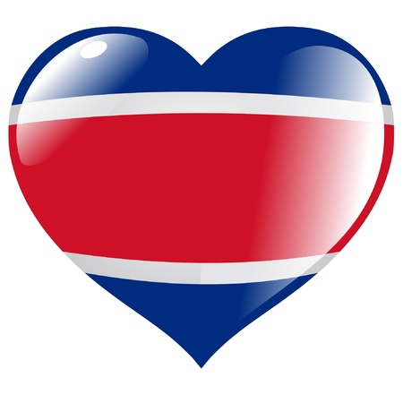 Costa Rica in heart Vector