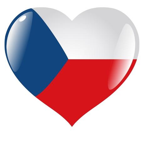 Czech Republic in heart Vectores