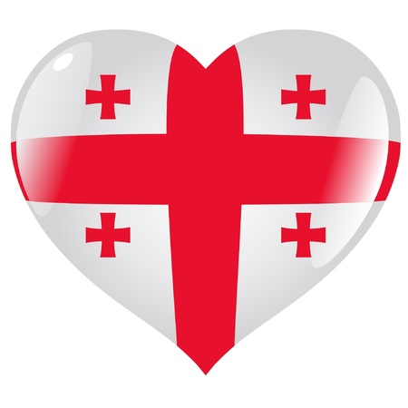 Georgia in heart Vector
