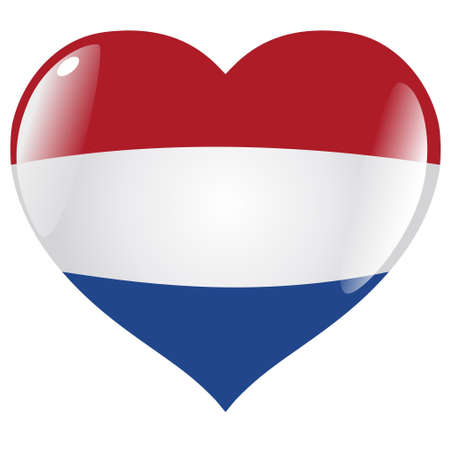 Netherlands in heart Vector