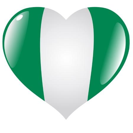 nigeria: Nigeria in heart Illustration