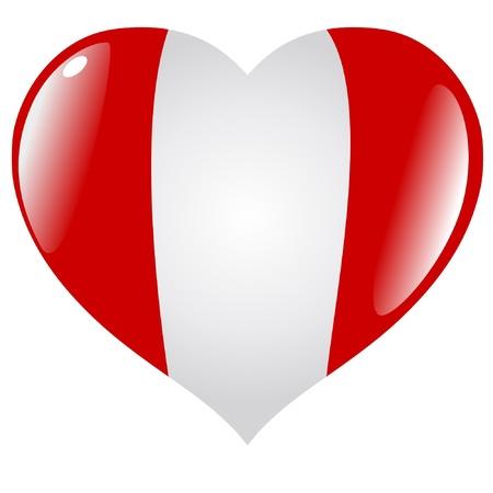 bandera peru: Per� en el coraz�n Vectores