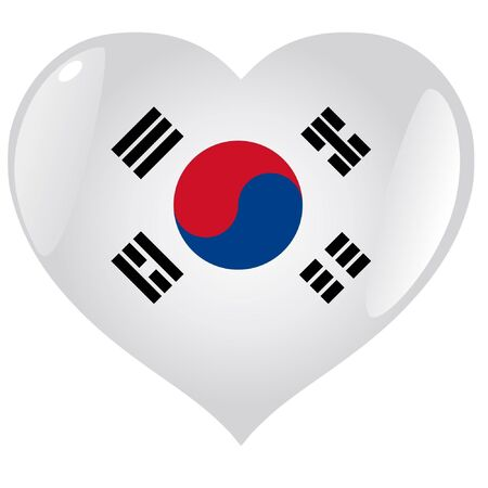 South Korea in heart Vector