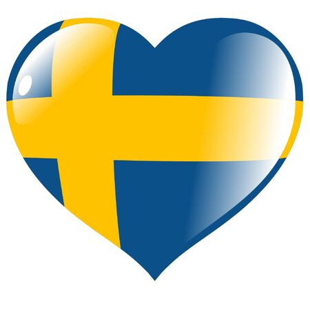 Sweden in heart Vector