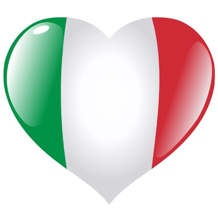 Italy in heart Vector