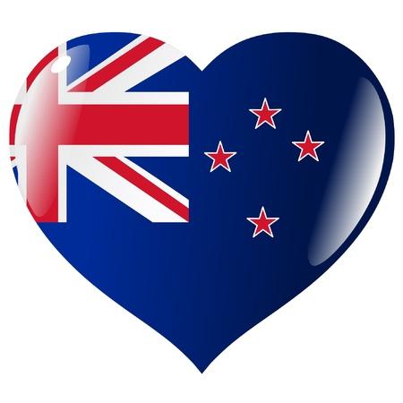new zealand flag: New Zealand in heart