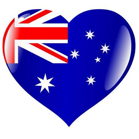 Australia in heart Vector