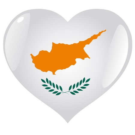 cyprus: Cyprus in heart Illustration