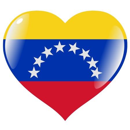 Venezuela flag: Venezuela en el coraz�n Vectores