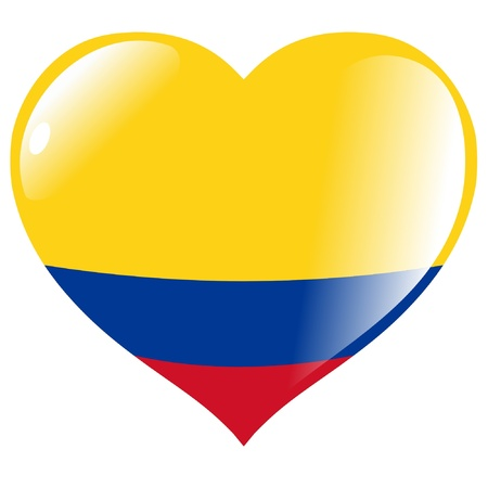 Colombia in heart Vector