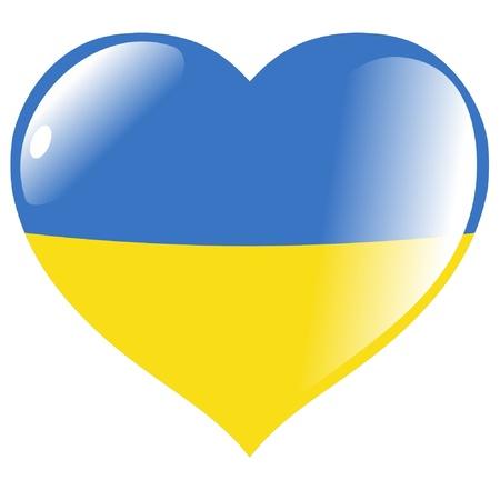 Ukraine in heart Stock Vector - 11782155