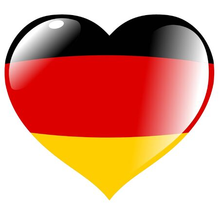 Germany in heart Vector