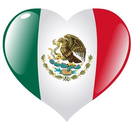 bandera mexico: M�xico en el coraz�n