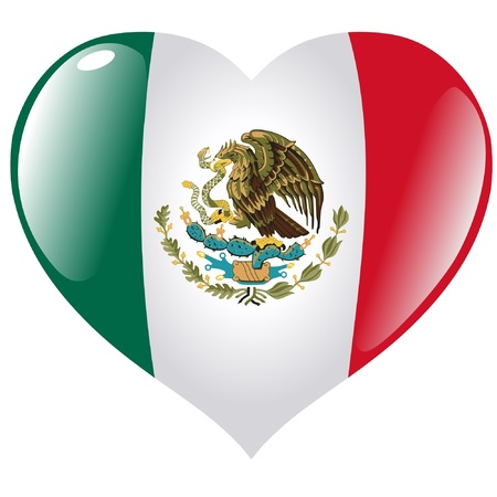 Mexico in heart Vector