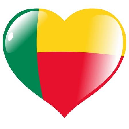 benin: Benin in heart