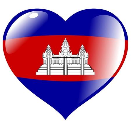 cambodia: Cambodia in heart Illustration