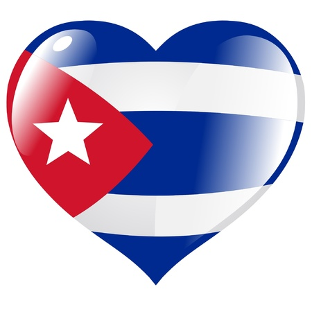 flag cuba: Cuba in heart