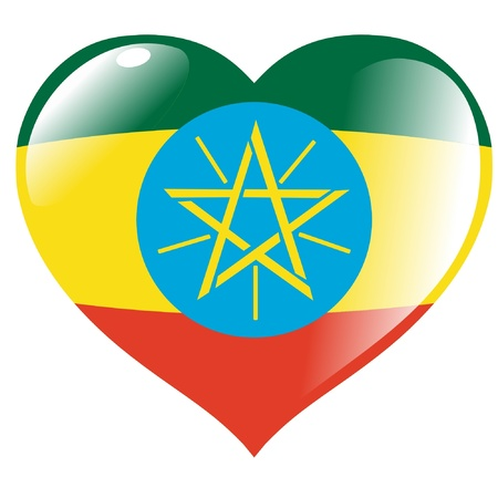 Ethiopia in heart Stock Vector - 11782210