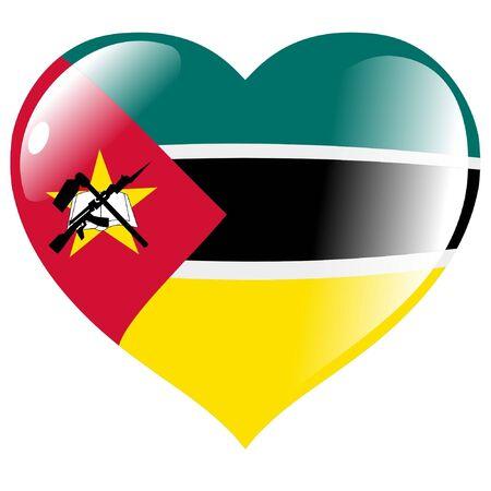 mozambique: Mozambique in heart Illustration