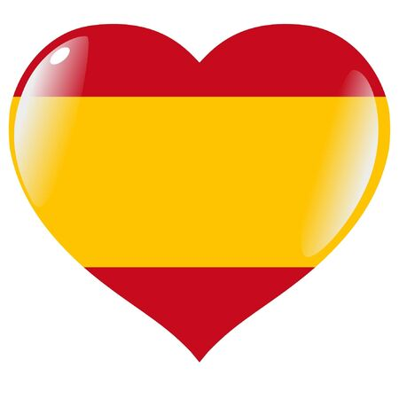 Spain in heart Vector
