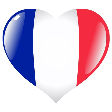 France in heart Vector