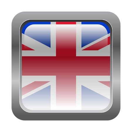 gb: metallic button in colors of United Kingdom