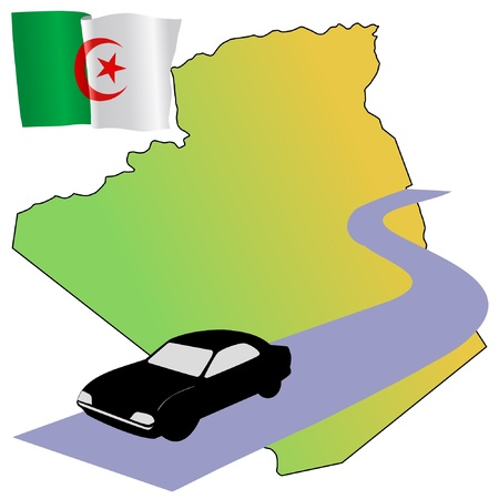 waiving: roads of Algeria