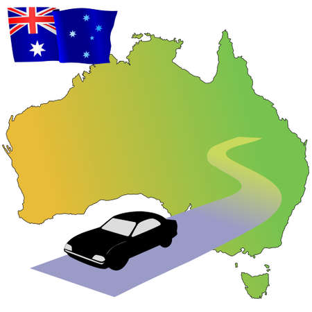 waiving: roads of Australia