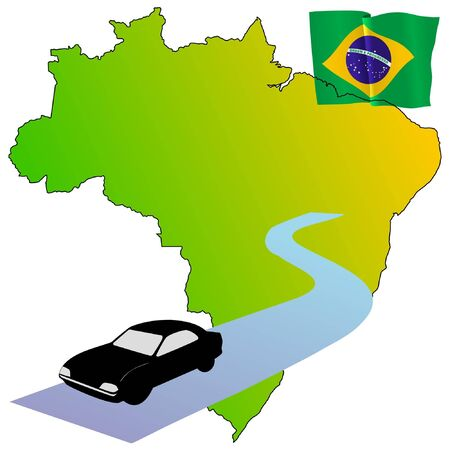 waiving: roads of Brazil Illustration