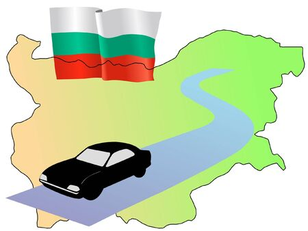 waiving: roads of Bulgaria
