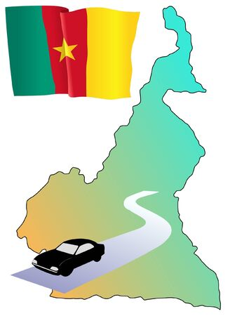 waiving: roads of Cameroon