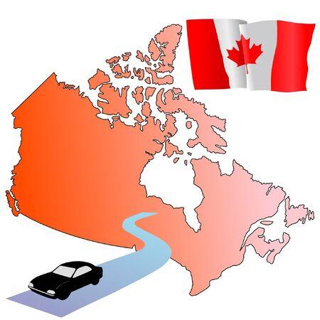 hayride: roads of Canada Illustration