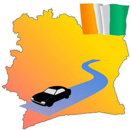 waiving: roads of Cote dIvoire