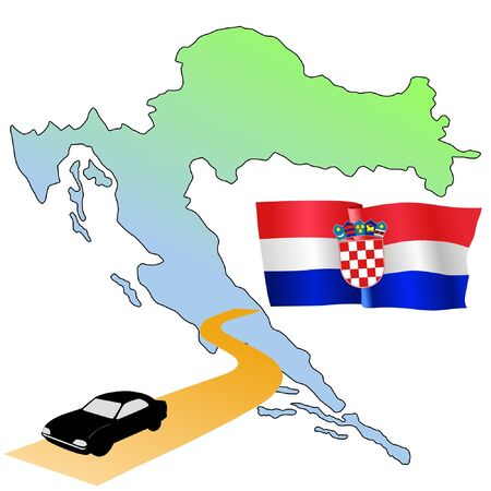 waiving: roads of Croatia