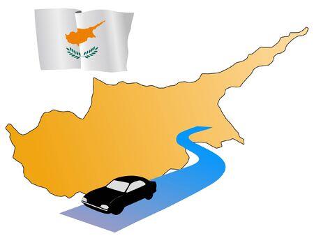 waiving: roads of Cyprus