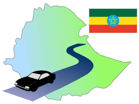 waiving: roads of Ethiopia